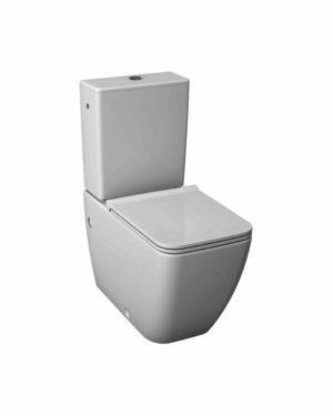 Jika – Cubito pure WC kombinační mísa kapotovaná ke stěně, Vario odpad, uzavřený oplachový kruh,hluboké splachování 4,5/3l