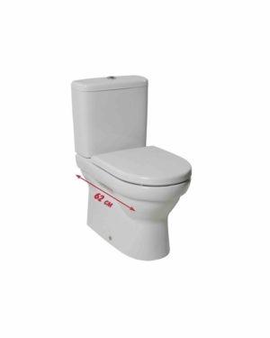 Jika – Tigo WC mísa kapotovaná ke stěně, VARIO odpad, splachování 3/4,5 l