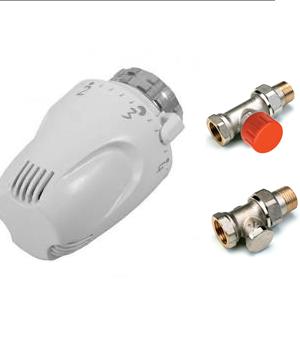 Comap – SET radiátorový Klasik přímý 1/2″ s termostatickou hlavicí W5-RI