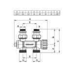 Comap – Ventil radiátorový termostatický FlexoSAR M30x1,5 přímý/rohový/pravý/levý 1/2″ x 3/4″ EK