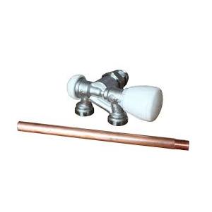 Giacomini – Ventil termostatický jednobodový R357BI rohový s injektorem 1/2″ x 18, pravý
