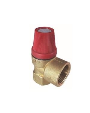 Herz – Ventil pojistný pro topení do 75 kW 1/2″ x 1/2″, 3,0 bar