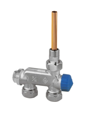 IMI Heimeier – Ventil termostatický E-Z jednobodový, přímý pro dvoutrubkové sestavy 1/2″ x 3/4″ EK