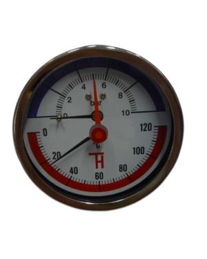Thermis – Termomanometr zadní 3082 ø 80 mm, 1/2″, 0-120°C/0-10 bar