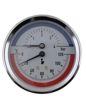 Thermis – Termomanometr zadní 3082 ø 80 mm, 1/2″, 0-120°C/0-4 bar