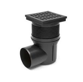 Chuděj – Vpusť kanalizační KVB 110 S s plastovou mřížkou 150 x 150 mm, boční odpad 110 mm, suchá klapka
