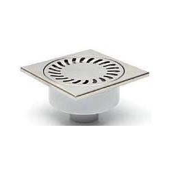Chuděj – Vpusť podlahová D 50/82 X N s nerezovou mřížkou 150 x 150 mm, boční odpad 50 mm, plovák NEPTUN