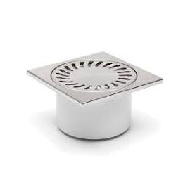 Chuděj – Vpusť podlahová D 50/84 N s nerezovou mřížkou 150 x 150 mm, , spodní odpad 50 mm