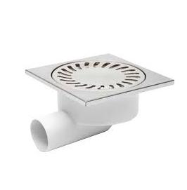 Chuděj – Vpusť podlahová D 50/95 X N s nerezovou mřížkou 150 x 150 mm, boční odpad 50 mm, plovák NEPTUN