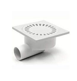 Chuděj – Vpusť podlahová DN 50/95 P, boční odpad 50 mm, plastová mřížka 150 x 150 mm