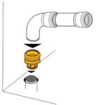 Haas – Hrdlo HT vnitřní, nástrčné 110/110 mm