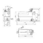 Grundfos – Stanice přečerpávací Sololift2 C-3 pro pračku, myčku, umyvadlo, dřez, vanu nebo sprchu