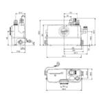 Grundfos – Stanice přečerpávací Sololift2 WC-3, pro WC a umyvadlo, sprchu, bidet nebo pisoár